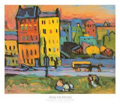 Kandinsky cityscapes.  Read Harold and the Purple Crayon, look at photos of cities and create brightly coloured cityscapes!  So fun, the kids loved it.