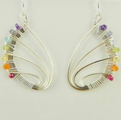 Butterfly wing earrings. You can do this! www.nomadbeads.com ~
