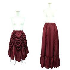 "Sheglit ""Dawn gathered skirt (Bordeaux)"""