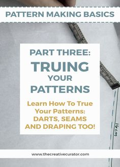 REPIN then CLICK to Learn Pattern Making Skills - How to True Your Patterns and Make Your Own Clothes