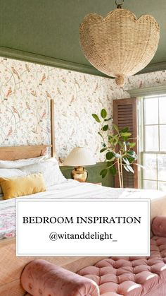 Wit And Delight, Bedroom Wallpaper, Inspirational Wallpapers, Trim Color, One Design, Interior Inspiration, Wall Murals, Cool Stuff, House Ideas