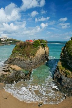 The House in the Sea, Newquay in Cornwall, England,