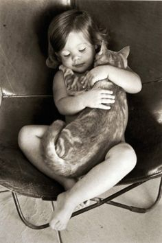 reminds me of myself with my very first pet cat- i adopted him much to my mum's horror, apparently he was a big old battered tom but i thought he was the most beautiful cat in the world and couldn't understand why he was not allowed in the house!