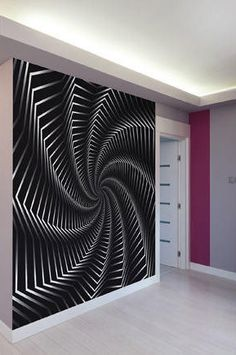 Large Funky Spin Pattern Photo Wallpaper Wall Mural For Living Room Decals Dining Decor Office Art
