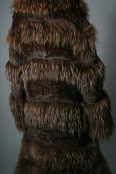 Rykiel's fabulous chestnut color marmot fur and knitted leather maxi coat | From a collection of rare vintage coats and outerwear at http://www.1stdibs.com/fashion/clothing/coats-outerwear/