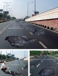 Pioneer Suspension Guerrilla Marketing Potholes