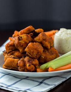 Buffalo Cauliflower Bites – Vegan   Gluten-free