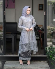 Kebaya Modern Hijab, Kebaya Hijab, Kebaya Dress, Batik Kebaya, Batik Dress, Dress Brukat, Hijab Dress Party, Hijab Style Dress, Modest Fashion Hijab