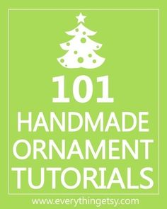 Get ready for the holidays with handmade ornaments!  Have you ever made a quilted ornament without sewing?    Salt dough ornaments are always sweet, but some of the ornaments on this list will amaze you!  Top your gifts with glitter cookie cutters, make yarn wreaths with your children, add a favorite photo to a felt Polaroid ornament for your best friend…there are a million ways to use these, and they are all quick projects. - Click image to find more DIY & Crafts Pinterest pins