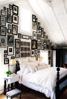 I plan to do a photo wall like this, just not in my bedroom.