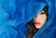 artistic, beautiful, beautitful woman, beauty, blue, colbalt