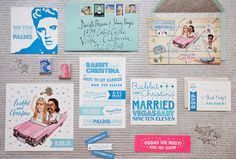 This Las Vegas destination wedding couple worked for months to create customized stationery. Photo courtesy of Christina McNeill and stationery by Yelley.