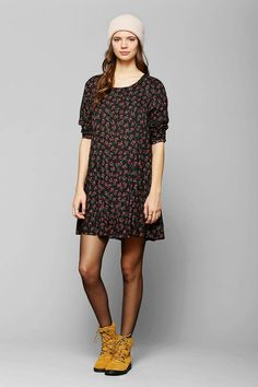 Pins And Needles Long-Sleeve Floral Dress #urbanoutfitters