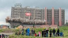 Demolition of iconic Glasgow Red Road flats begins