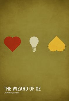 Minimalist Movie Posters -- Heart. Brain. Courage.