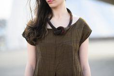 Diane Katz Designs: Crepe de Chine Knot Necklace