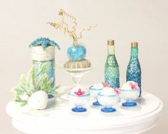 Charming Miniatures for a Summer Party in your Dollhouse by DinkyWorld at Etsy