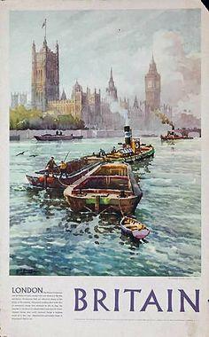 Britain | Vintage travel poster #Travel #Posters #Vintage #Affiches #Carteles