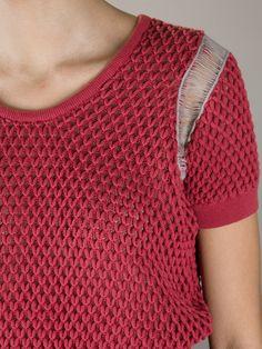 Carven Cropped Loose Knit Sweater - Cuccuini - farfetch.com