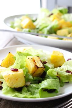 "Grilled Pineapple Salad - Simple and Satisfying ""I would substitute the orange juice,  and use pineapple juice instead,  and I think I'd prefer not to add the strawberry preserves at all. """