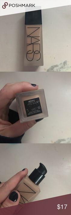 """NARS foundation Nars all day weightless luminous skin foundation. Comes in the color """"medium 2 Santa fey"""". Perfect for light to medium skin tones and has a great coverage. Used 2 times and was bought at Sephora for $47 NARS Makeup Foundation"""