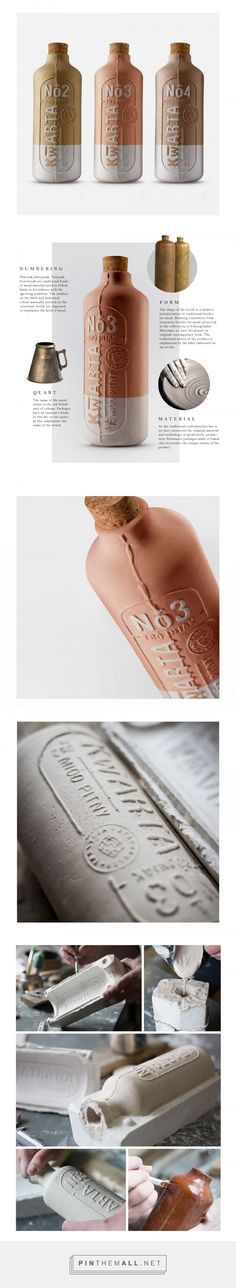 Kwarta mead (an alcoholic beverage made by fermenting honey and water) by Aleksandra i Piotr Wiśniewscy for OPUS B. Source: Behance. I strongly encourage you to visit the source page and read about this beautiful project. Pin curated by #SFields99 #packaging #design #inspiration #ideas #innovation #product #branding #creative #structural #bottle #alcoholic #beverages