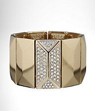 #ExpressJeans  PAVE RECTANGLE STRETCH BRACELET