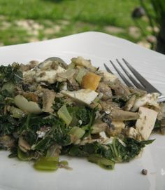 Lugada is an authentic Caviteno dish that involves sauteeing seafood with greens. It's usually a showcase dish for sting ray, but I learned recently that it is also good with dilis, or anchovies.