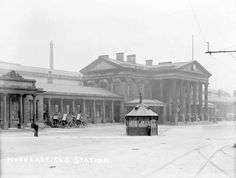 Huddersfield Railway Station, 1910. Detective Inspector Thomas William Dunn was based here 01/09/1909 to 06/02/1913.