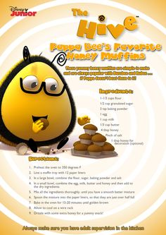 A recipe for you courtesy of Disney Junior's The Hive!