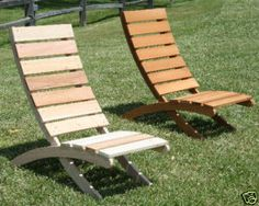 Outdoor Wood Lounge Chair MAJOR PRICE REDUCE