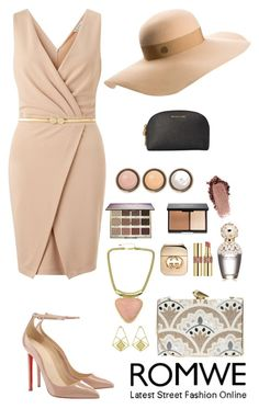 """""""Romwe 9"""" by amra-f ❤ liked on Polyvore featuring Miss Selfridge, KOTUR, Yves Saint Laurent, Marc Jacobs, Gucci, tarte, By Terry, Maison Michel, Michael Kors and women's clothing"""