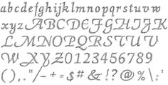 List of alphabets Embroidery lettering - pre-digitized alphabet 23