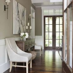 Wood Door White Trim Design, Pictures, Remodel, Decor and Ideas - page 5