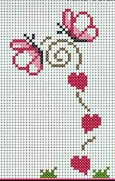 Ideas Embroidery Designs Cross Stitch Punto Croce For 2019 Cross Stitch Letters, Cross Stitch Boards, Cross Stitch Heart, Cute Cross Stitch, Cross Stitch Designs, Stitch Patterns, Cross Stitching, Cross Stitch Embroidery, Hand Embroidery