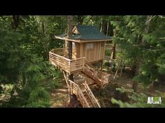 I watched this episode and just had had HAD to Pin it. This turned out SO gorgeously. I want this so bad. Adorable. I totally <3 it! - Take a tour of a breathtaking Japanese-style teahouse that has been built in the treetops!   For more Treehouse Masters, visit http://animal.discovery.com/tv...