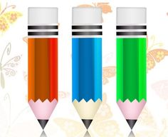 3 Crisp Colorful Pencil Icons Set PSD - http://www.dawnbrushes.com/3-crisp-colorful-pencil-icons-set-psd/