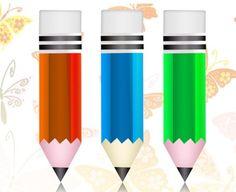 3 Crisp Colorful Pencil Icons Set PSD - http://www.dawnbrushes.com/3-crisp-colorful-pencil-icons-set-psd/
