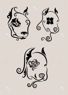 Awesome pit bull or American Staffordshire Terrier tattoo design