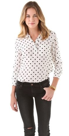 (Limited Supply) Click Image Above: Equipment Adele Cherie Dot Blouse