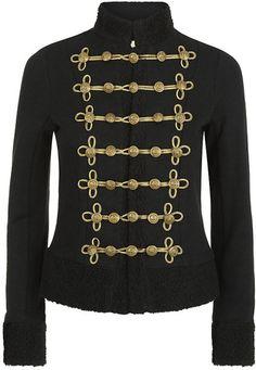 Denim & Supply Ralph Lauren Shearling Military Jacket in Gold