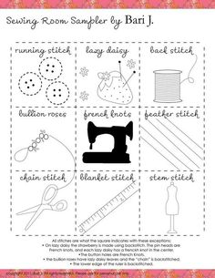 Embroidery Sampler Pattern.  See Finished Work. jwt