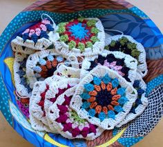 Time to move on from crocheting washcloths....these look like fun.