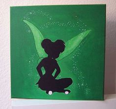 Disney Tinkerbell acrylic canvas painting by stardustcreationz ...