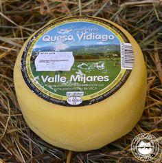 Queso Vidiago mini, con un peso de 300 gr. aprox. Es un queso suave de leche de vaca pasteurizada. http://www.elmercadodelnorte.com/categoria-producto/quesos/