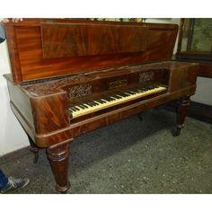 PIANO ANTIGUO FORTE DE MESA INGLÉS COLLARD - 7