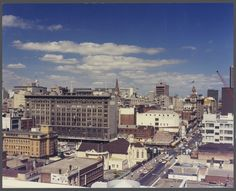 View towards corner of Elizabeth and Lonsdale Streets, from rooftop, Melbourne, Vic. 1973 Wolfgang Sievers