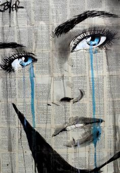 "Saatchi Art Artist LOUI JOVER; Drawing, ""mystery blue"" #art"