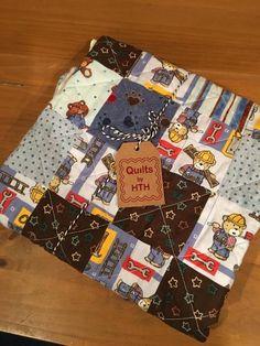 Baby Quilt Teddy Bear/ Boy Baby Quilt /Brown Baby Quilt/ Teddy Bear Quilt/ Quilts by HTH on Etsy/ Handmade Quilt/ Teddy Bear