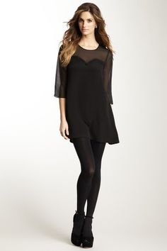 Julie Brown Sheer Trim Shift Dress on HauteLook